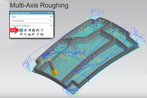 Multi Axis Roughing NX CAM